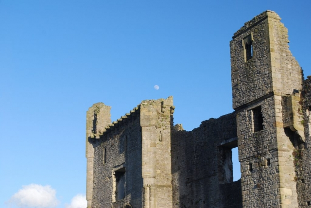 Moon Over Middleham Castle