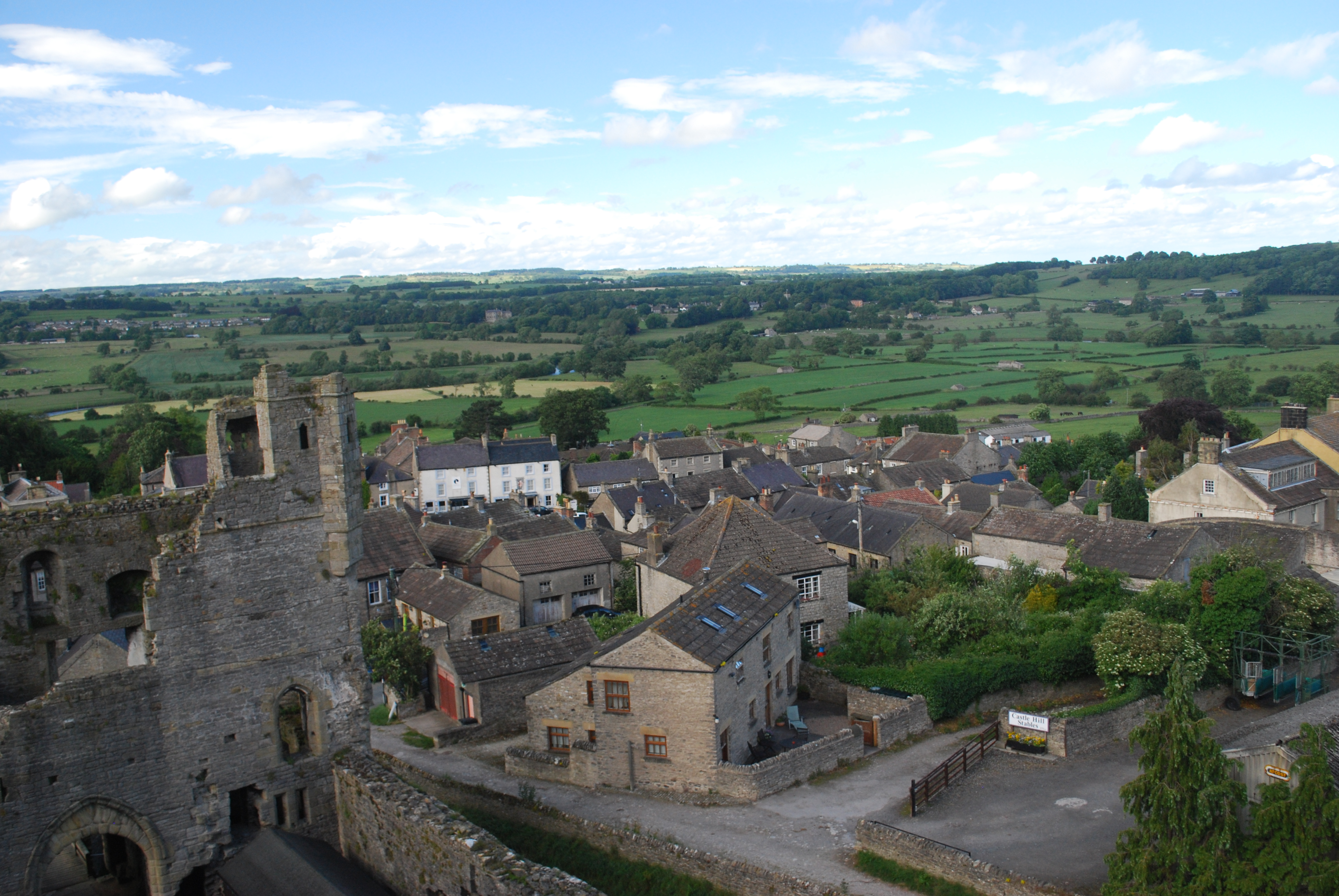 View of Middleham from the Castle