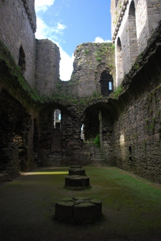 Inside Middleham Castle